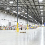 Bright LED lighting in a distribution center