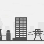power plant distributing energy to workplaces, businesses, and manufacturing plants